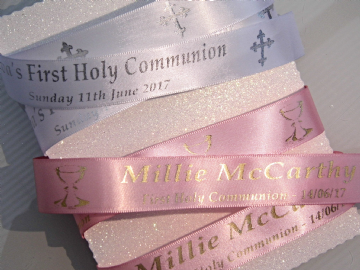 Personalised Holy Communion Ribbon 5 metres